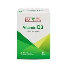 کپسول نرم ویتامین D3 1000 IU باریویتال