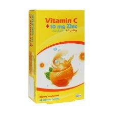 کپسول ویتامین ث + 10 میلی گرم زینک هگمتان داروی غرب