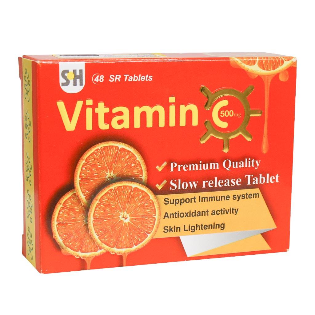 قرص آهسته رهش ویتامین C 500 میلی گرم شهاب درمان