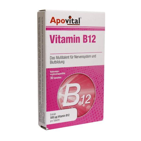 قرص ویتامین B12 500 آپوویتال