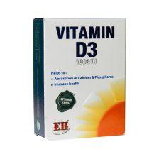 کپسول ژلاتینی ویتامین D3 1000 واحد فیشر