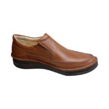 کفش طبی کاراملی مردانه شهرام طب مدل کلارک چرمی