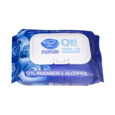 دستمال مرطوب پاک کننده آرایش Q10 Plus دافی