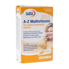 قرص A Z مولتی ویتامین بالای 50 سال بانوان یوروویتال