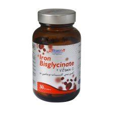 قرص آهن بیس گلیسینات پلاس ویتامین C رزاویت