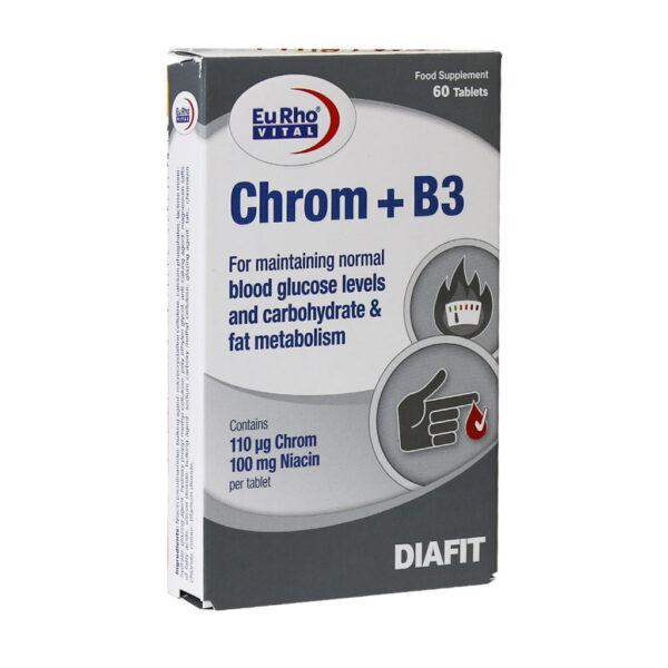 قرص کروم و ویتامین B3 یوروویتال